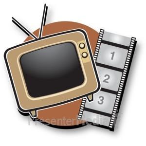 ID# 15178 - Tv Film Icon - Presentation Clipart