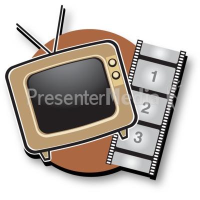 Tv Film Icon PowerPoint Clip Art
