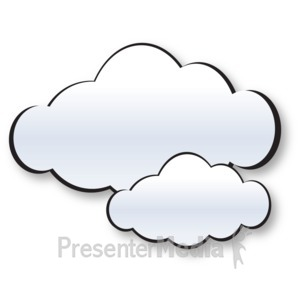 ID# 15180 - Two Cloud Cluster - Presentation Clipart