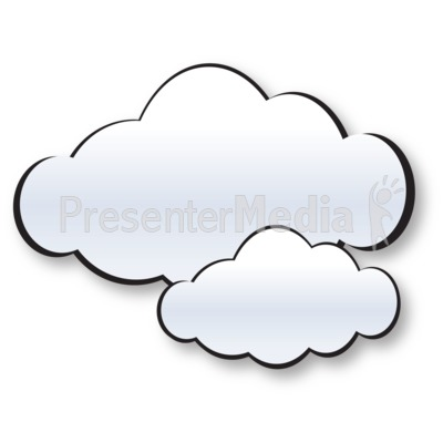 Two Cloud Cluster PowerPoint Clip Art