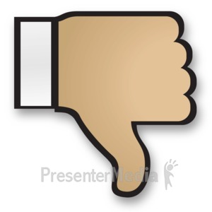 ID# 15188 - Hand Thumbs Down Cuff - Presentation Clipart