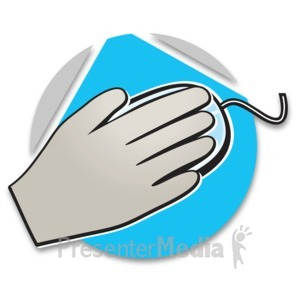 ID# 15189 - Hand On Mouse Icon - Presentation Clipart
