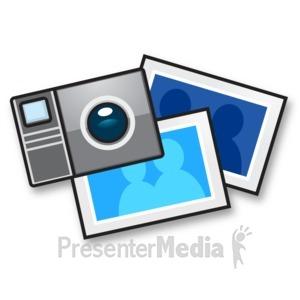 ID# 15190 - Camera Snapshot Photo - Presentation Clipart