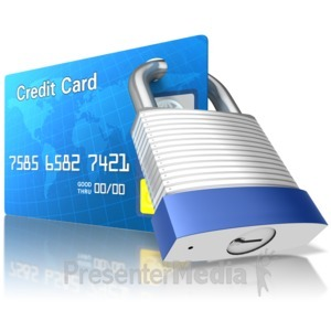 ID# 15201 - Secured Credit Card - Presentation Clipart