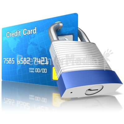 Secured Credit Card PowerPoint Clip Art