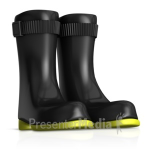 ID# 15219 - Rubber Safety Work Boots - Presentation Clipart
