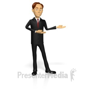 ID# 15221 - Business Guy Presenting - Presentation Clipart