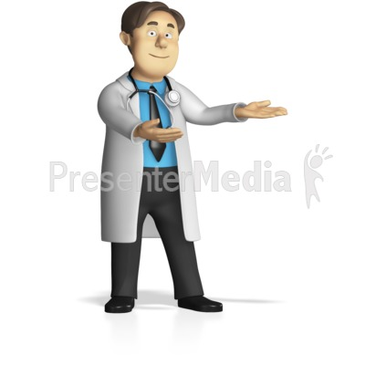 Male Doctor Presenting PowerPoint Clip Art