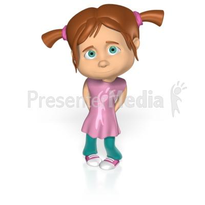 Cute Shy Girl Custom - Custom Text - Great Clipart for ...