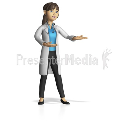 Doctor or Nurse Custom Present Gesture PowerPoint Clip Art