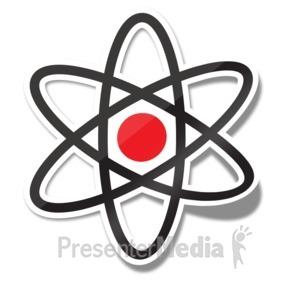 ID# 15237 - Atom Icon Sticker - Presentation Clipart