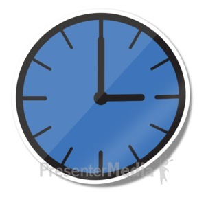 ID# 15240 - Clock Icon Sticker - Presentation Clipart