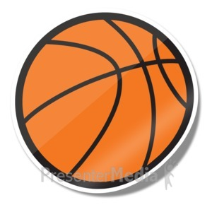 ID# 15245 - Basketball Icon Sticker - Presentation Clipart