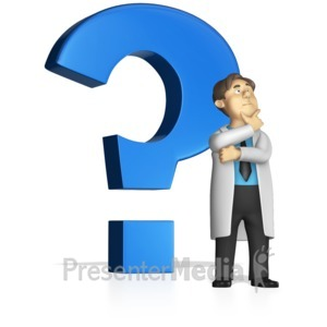 ID# 15265 - Standing by By Question Mark - Presentation Clipart