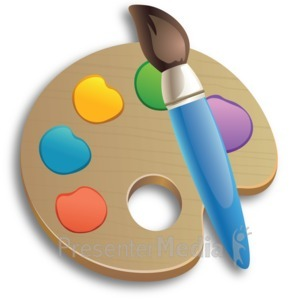 ID# 15266 - Paintbrush Palette - Presentation Clipart