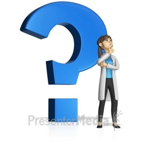 ID# 15268 - Standing By Question Mark Custom - Presentation Clipart