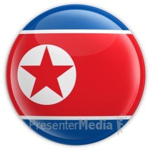 ID# 15269 - North Korea Badge - Presentation Clipart