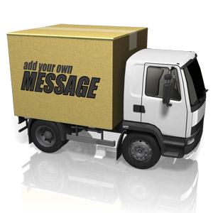 ID# 15273 - Custom Cardboard Truck - Presentation Clipart