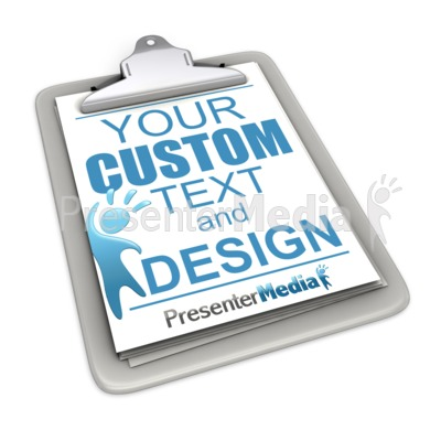 Custom Clipboard Presentation clipart