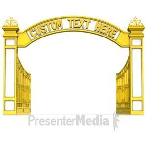 ID# 15323 - Open Gate Custom Text - Presentation Clipart