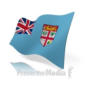 ID# 15328 - Fiji Flag - Presentation Clipart