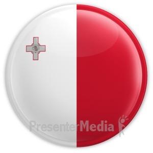 ID# 15332 - Malta Badge - Presentation Clipart