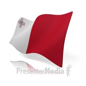 ID# 15333 - Malta Flag - Presentation Clipart