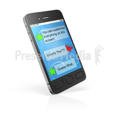 Smart Phone Custom Block Presentation clipart