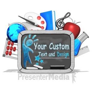 ID# 15351 - Custom Blackboard Tablet - Presentation Clipart