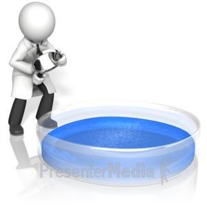 ID# 15403 - Scientist Magnify Petri Dish - Presentation Clipart