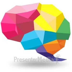 ID# 15412 - Creative Shaped Brain - Presentation Clipart