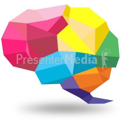 Creative Shaped Brain PowerPoint Clip Art