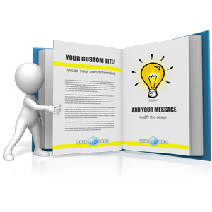 ID# 15415 - Figure Turning A Custom Page - Presentation Clipart