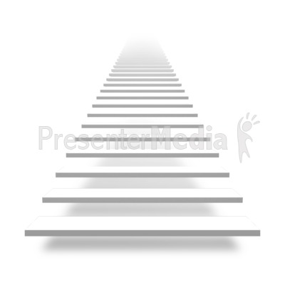 Front Basic Stairs Presentation Clipart Great