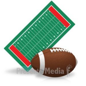 ID# 15445 - Football Field - Presentation Clipart