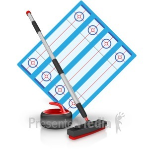 ID# 15457 - Curling Field Equipment - Presentation Clipart
