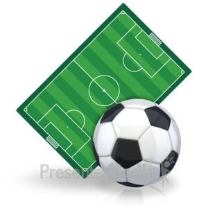 ID# 15459 - Soccerball Field - Presentation Clipart