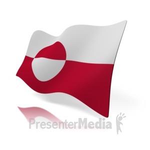 ID# 15461 - Greenland Flag - Presentation Clipart