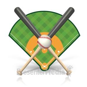 ID# 15468 - Baseball Field Icon - Presentation Clipart