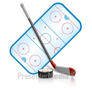 ID# 15474 - Ice Hockey Playing Field - Presentation Clipart