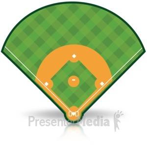 ID# 15487 - Baseball Field - Presentation Clipart