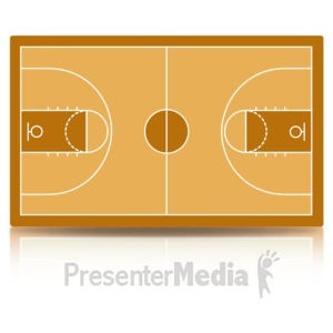 ID# 15488 - Basketball Court - Presentation Clipart