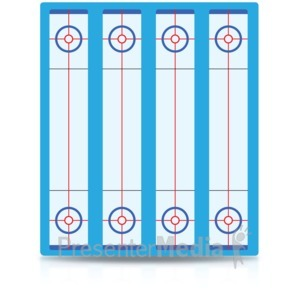 ID# 15489 - Curling Board - Presentation Clipart