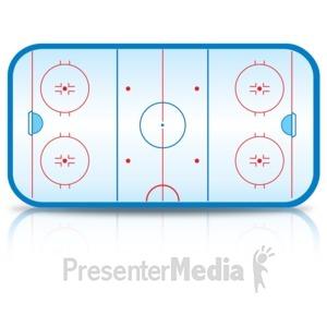 ID# 15491 - Ice Hockey Rink - Presentation Clipart
