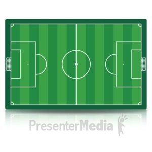 ID# 15492 - Soccer Field - Presentation Clipart