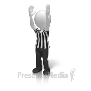 ID# 15501 - Referee Touchdown Signal - Presentation Clipart