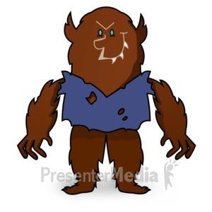 ID# 15503 - Scary Werewolf Look - Presentation Clipart