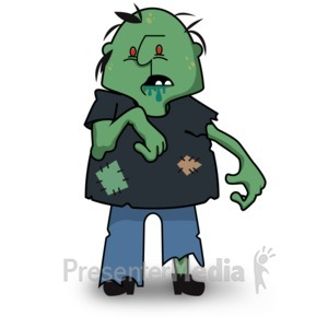 ID# 15504 - Scary Zombie Look - Presentation Clipart