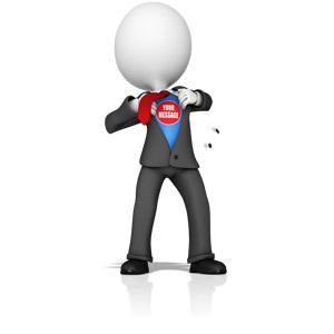 ID# 15515 - Business Figure Superhero - Presentation Clipart