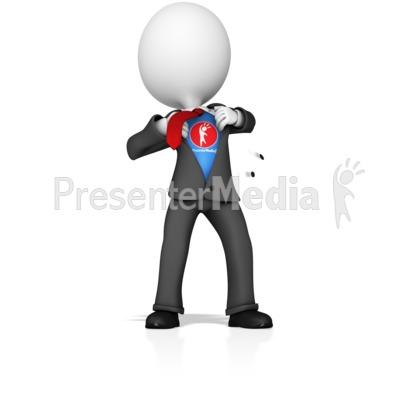Business Figure Superhero Presentation clipart